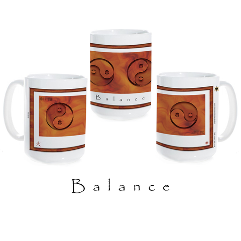 Yin Yang Coffee Mug-Balance-Fire-Ceramic Coffee Mug