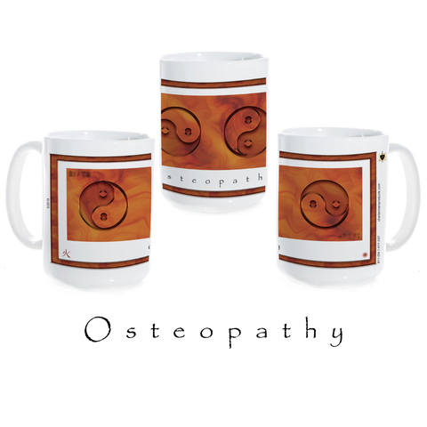 Yin Yang Coffee Mug-Osteopathy-Fire-Ceramic Coffee Mug