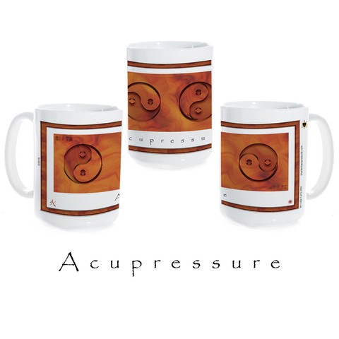 Yin Yang Coffee Mug-Acupressure-Fire-Ceramic Coffee Mug