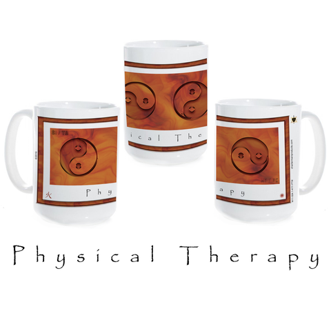 Yin Yang Coffee Mug-Physical Therapy-Fire-Ceramic Coffee Mug