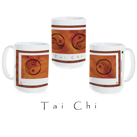 Yin Yang Coffee Mug-Tai Chi-Fire-Ceramic Coffee Mug