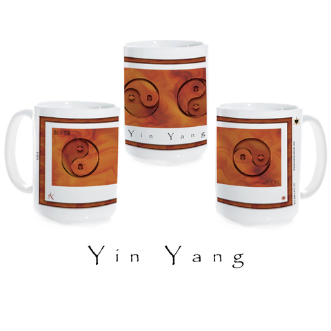 Yin Yang Coffee Mug-Fire-15 oz. ceramic coffee mug