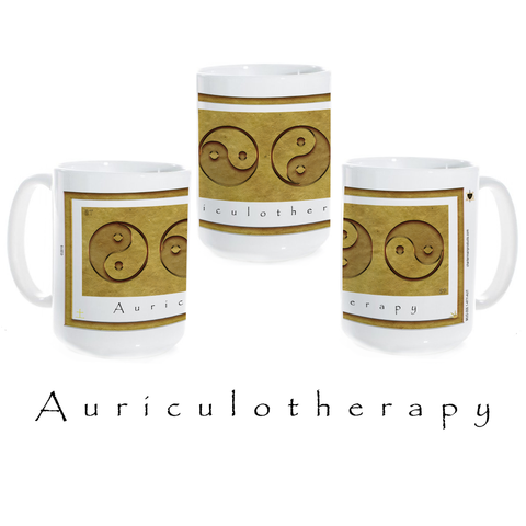 Yin Yang Coffee Mug-Earth-Auriculotherapy-Ceramic Coffee Mug