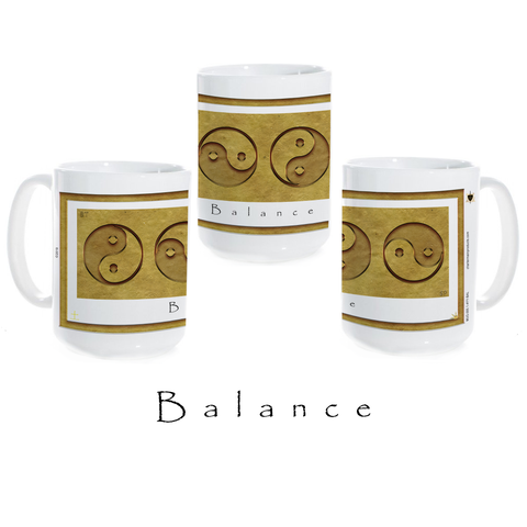 Yin Yang Coffee Mug-Earth-Balance-Ceramic Coffee Mug