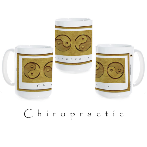 Yin Yang Coffee Mug-Earth-Chiropractic-Ceramic Coffee Mug