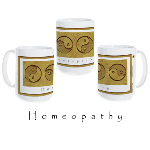 Yin Yang Coffee Mug-Earth-Homeopathy-Ceramic Coffee Mug