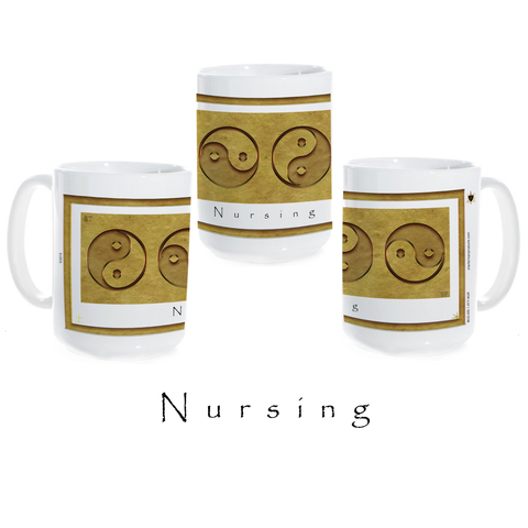 Yin Yang Coffee Mug-Earth-Nursing-Ceramic Coffee Mug
