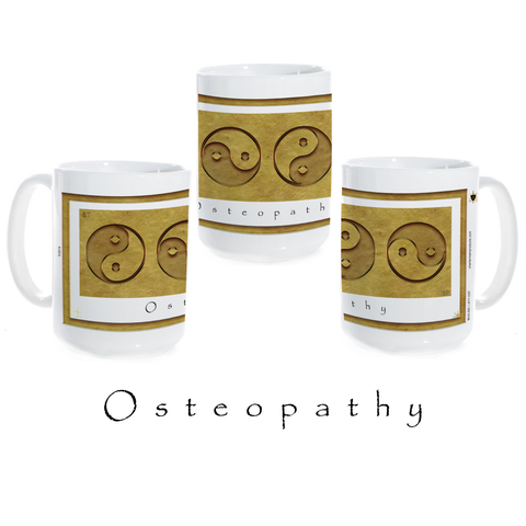 Yin Yang Coffee Mug-Earth-Osteopathy-Ceramic Coffee Mug