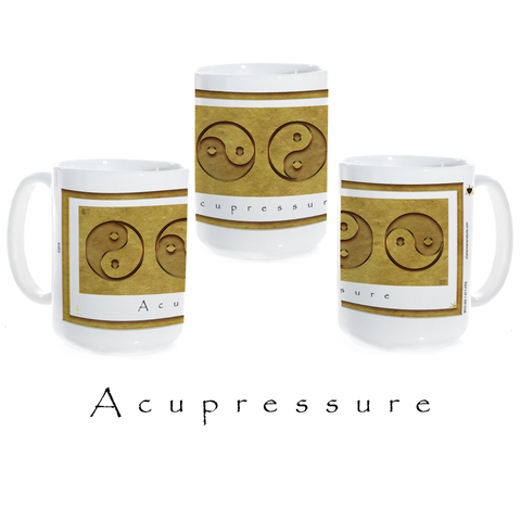 Yin Yang Coffee Mug-Earth-Acupressure-Ceramic Coffee Mug