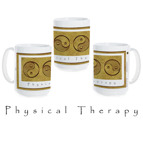 Yin Yang Coffee Mug-Earth-Physical Therapy-Ceramic Coffee Mug