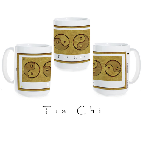 Yin Yang Coffee Mug-Earth-Tai Chi-Ceramic Coffee Mug