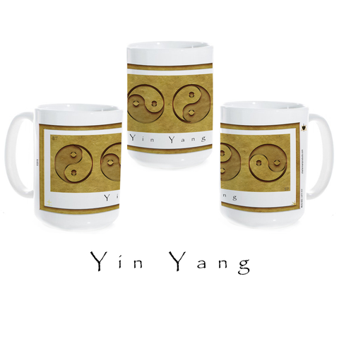 Yin Yang Coffee Mug-Earth-Yin Yang-Ceramic Coffee Mug