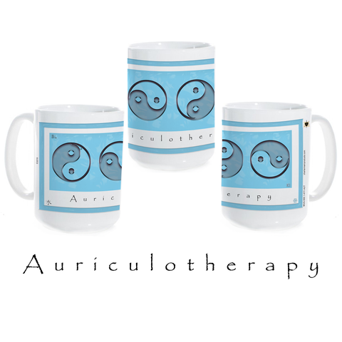 Yin Yang Coffee Mug-Water-Auriculotherapy-Ceramic Coffee Mug