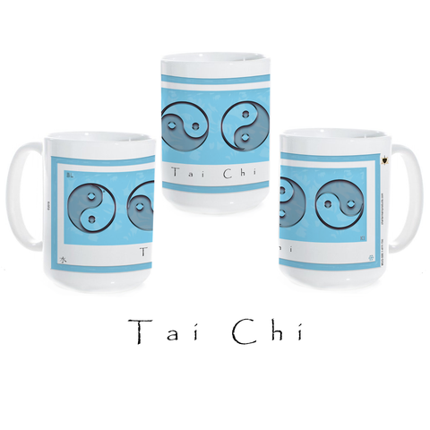 Yin Yang Coffee Mug-Water-Tai Chi-Ceramic Coffee Mug