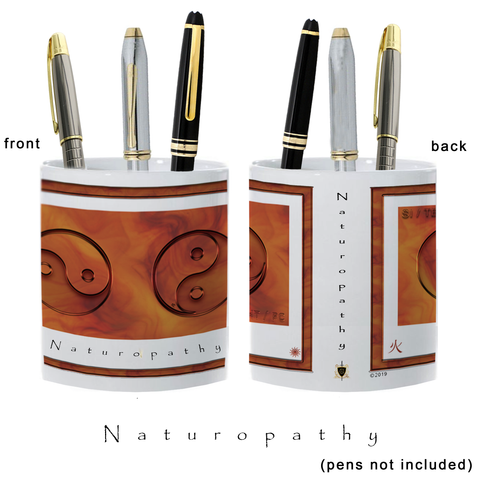 Yin Yang Pencil Holder-Naturopathy-Fire-11oz. pencil holder