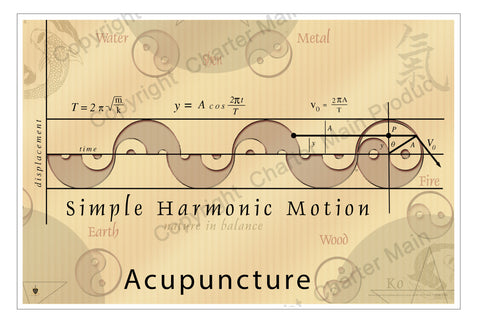 Simple Harmonic Motion-Poster-Acupuncture-mixes Acupuncture with Western science concepts