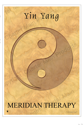 Yin Yang Symbol-Poster-Meridian Therapy-the symbol relates to every day life and health