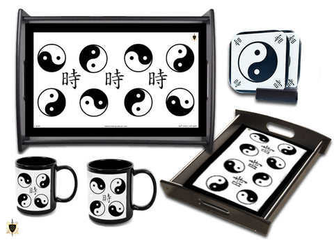 Black & White (Yin/Yang) Four Piece Set