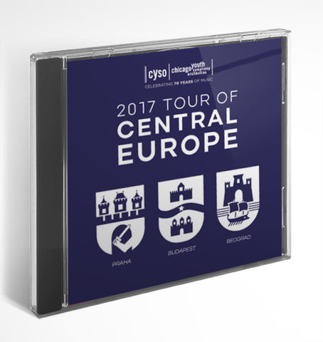 CYSO 2017 Tour of Central Europe | Summer 2017 - CD or Download