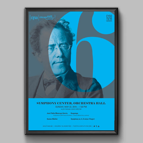 Orchestra Hall Spring 2016 Poster (Mahler 6)