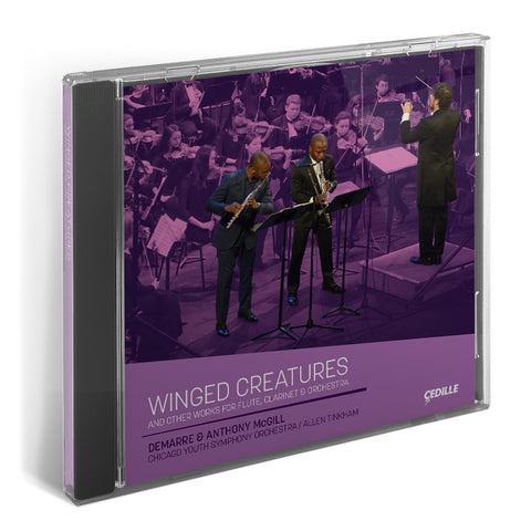 Winged Creatures CD - Anthony & Demarre McGill with Allen Tinkham and CYSO's Symphony Orchestra