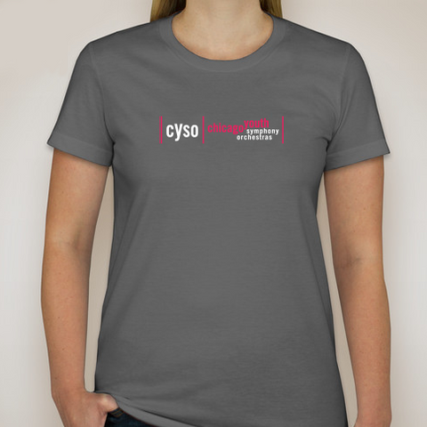 Ladies Short Sleeve Tee - Pink Logo