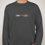 Long Sleeve Tee with Orange Logo