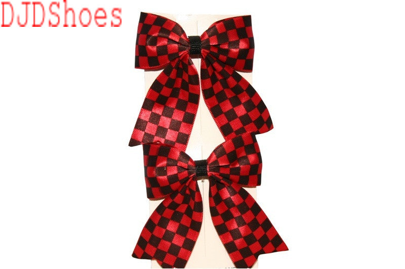 Checked Bow Hair Clips (Various Colours)