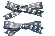 Load image into Gallery viewer, Skull and Crossbones Hair Clips (Various Colours)