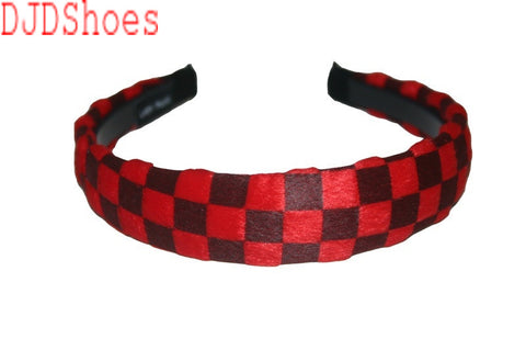 Checked Hair Band (Various Colours)