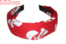 Load image into Gallery viewer, Cloth Pirate Skull and Crossbones Hair Band (Various Colours)