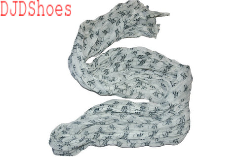 Crinkled Skull and Crossbones Scarf (Various Colours)