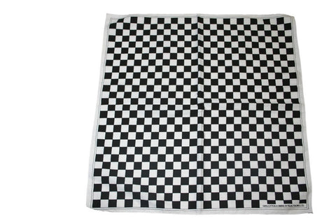 Square Black and White Checked Bandana