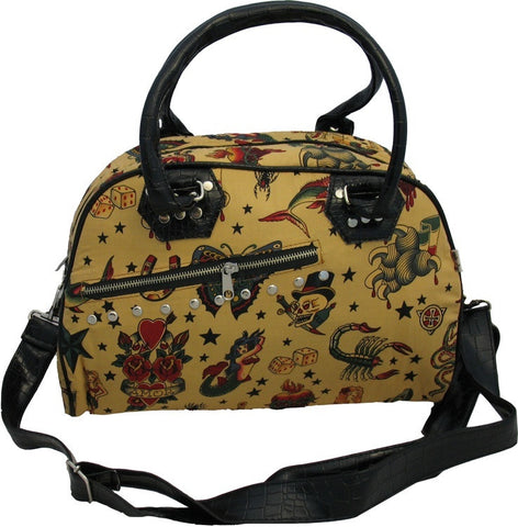 Large Tattoo Motif Bag (Various Colours)