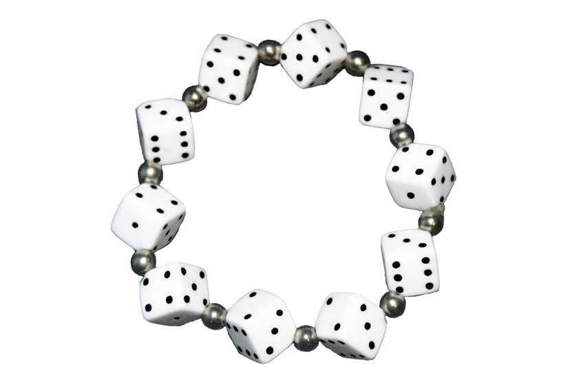Thick Dice Bracelet (Various Colours)