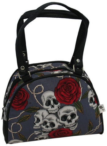 Small Skulls and Roses Bag (Various Colours)