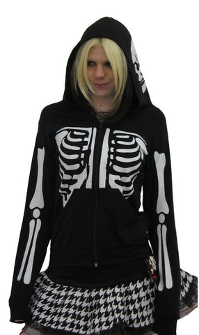 Skeleton Black Hoody