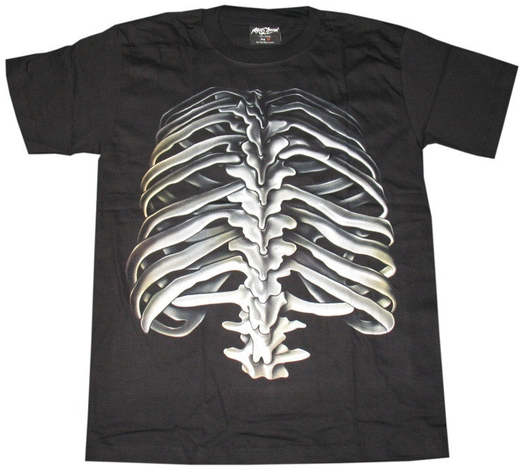Rock Chan Glow-In-The-Dark Human Ribcage T-shirt