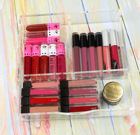 Boxy Girl Clear Lucite Acrylic Makeup Organizer tips with Love For Lacquer