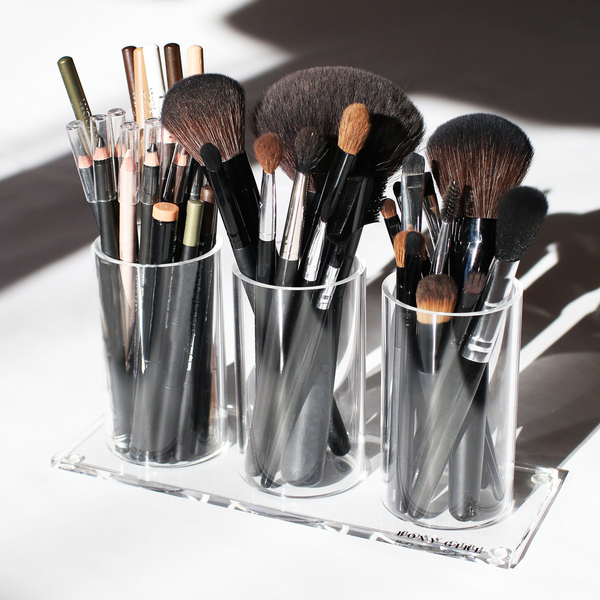 Boxy Girl® Half Brush Stack - Acrylic Makeup Brush Organizer