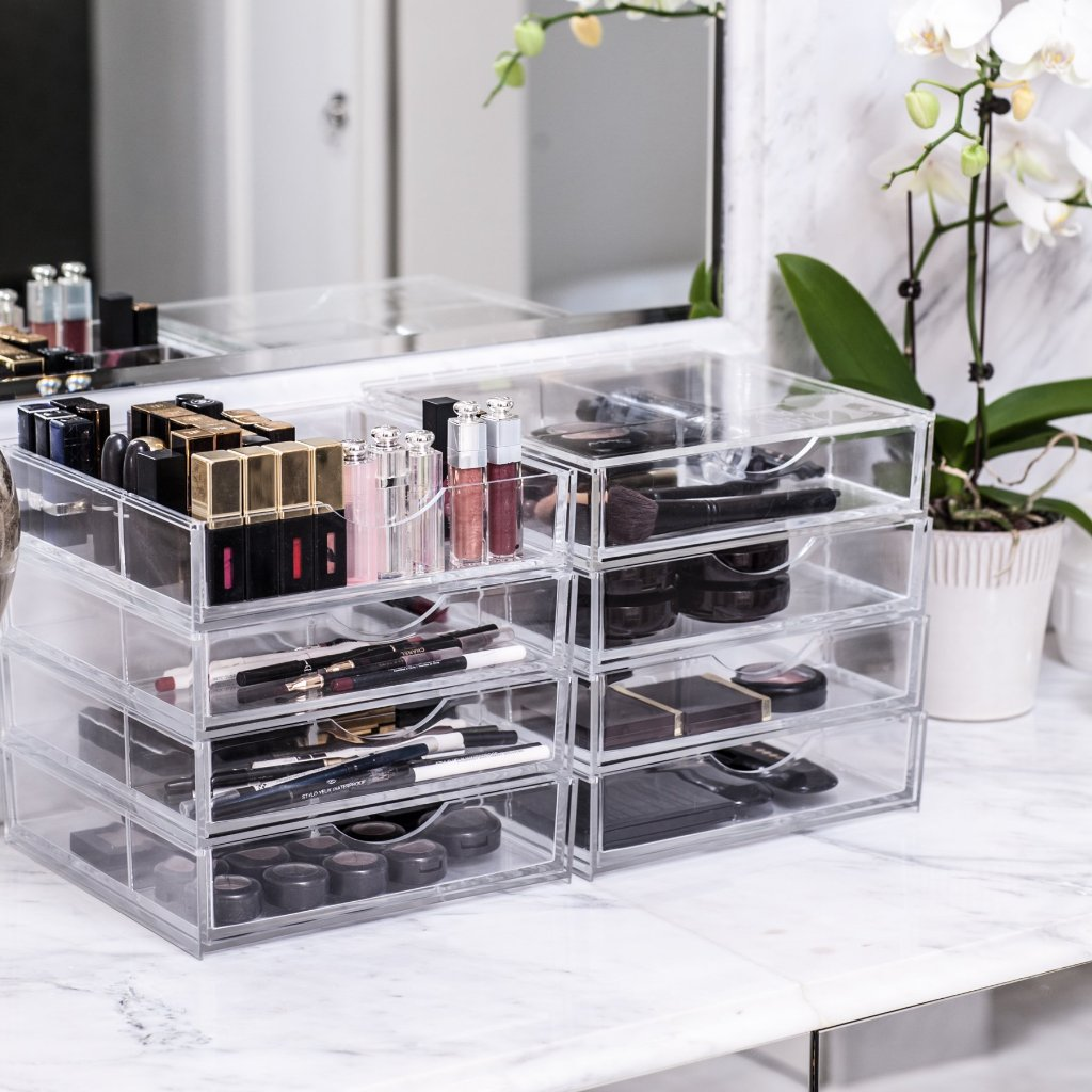 boxy girl® four stack acrylic makeup organizer