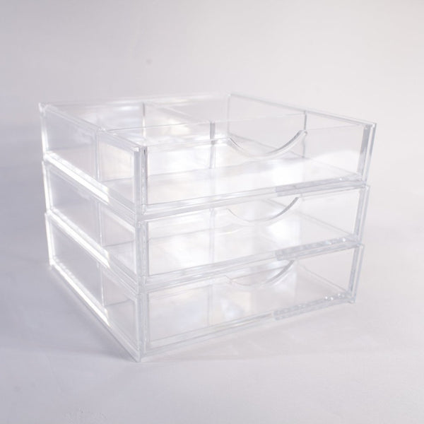 Boxy Girl® Triple Stack | Acrylic Makeup Organizer with Drawers