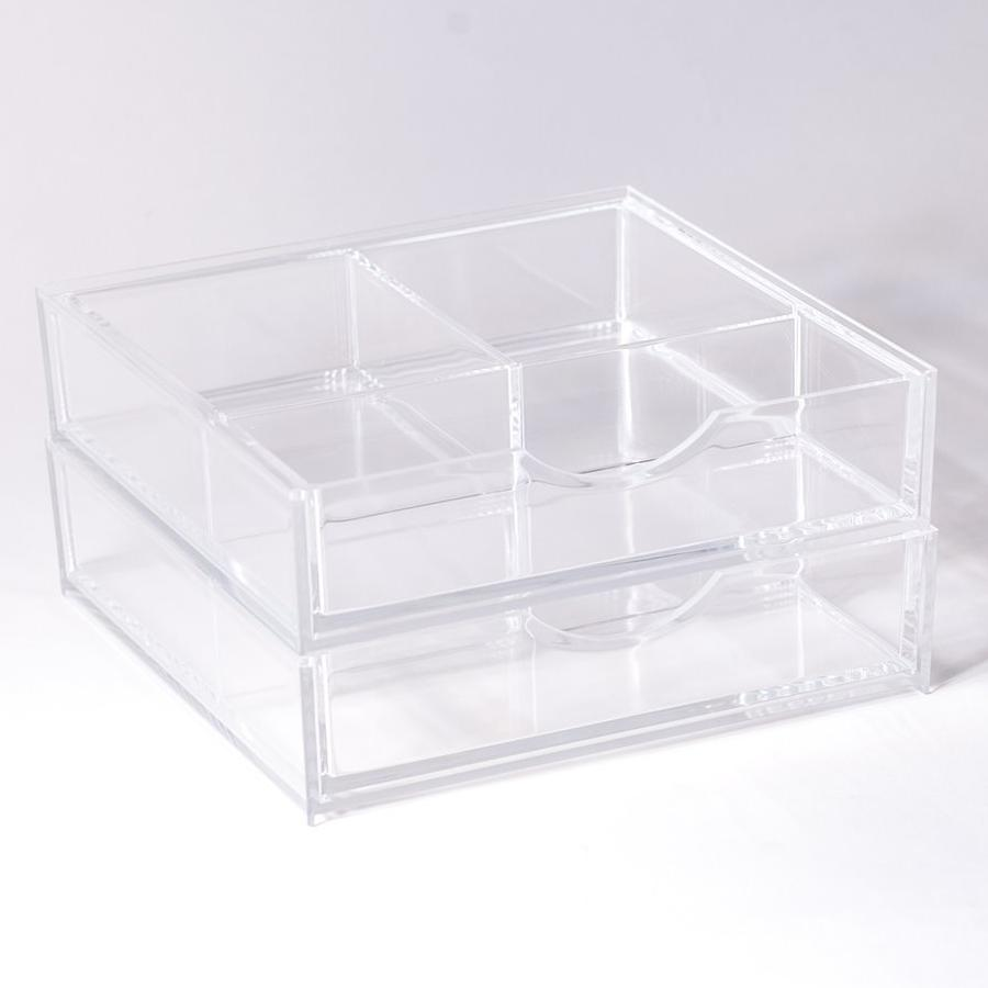 Boxy Girl® Double Stack - Acrylic Makeup Organizer with Drawers ...