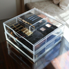 Boxy Girl® Double Stack - Acrylic Makeup Organizer with Drawers