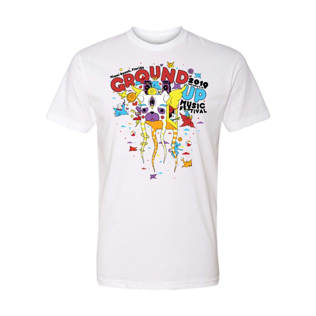 2019 GroundUP Fest Graphic T-Shirt (White)