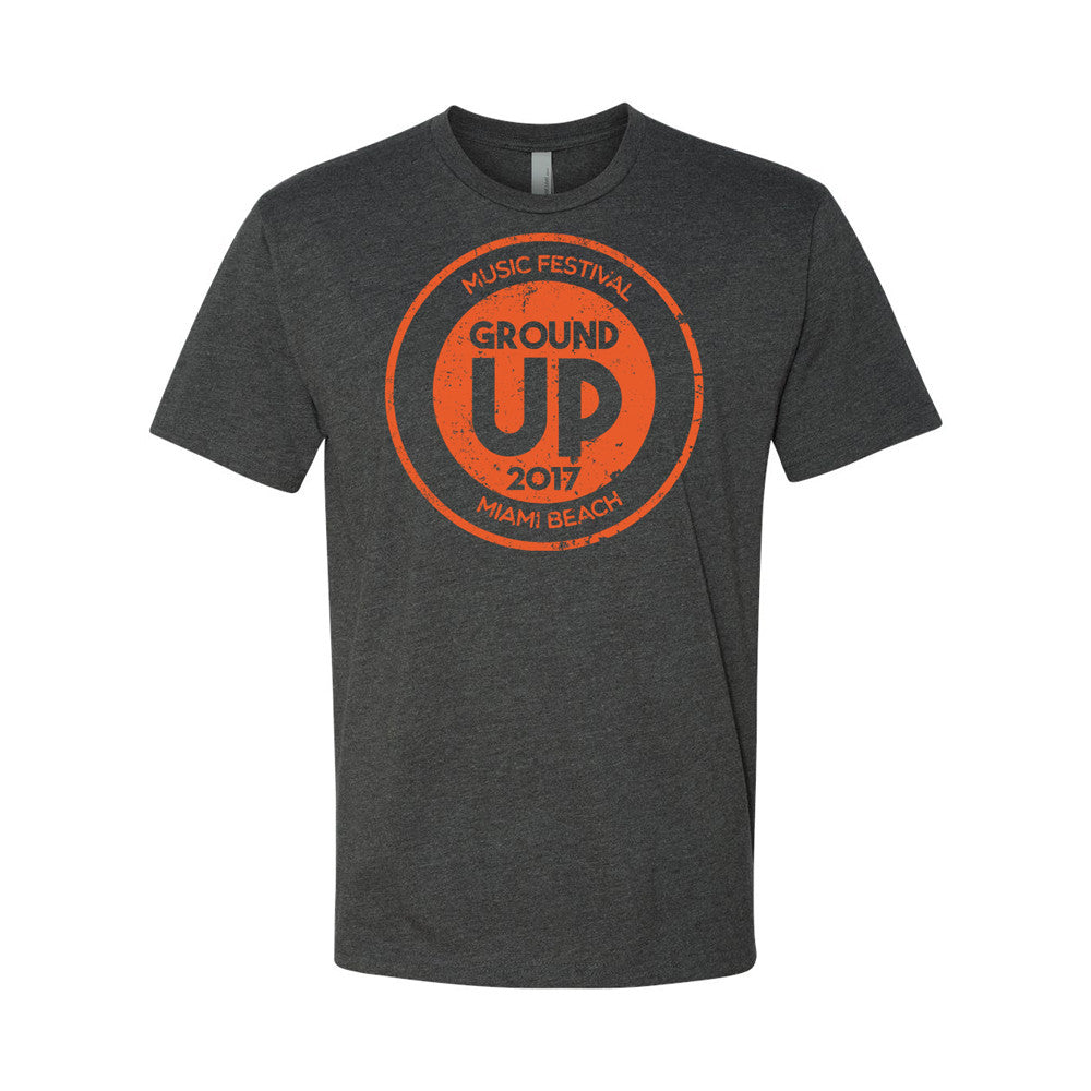 2017 GroundUP Music Festival T-Shirt (Charcoal)