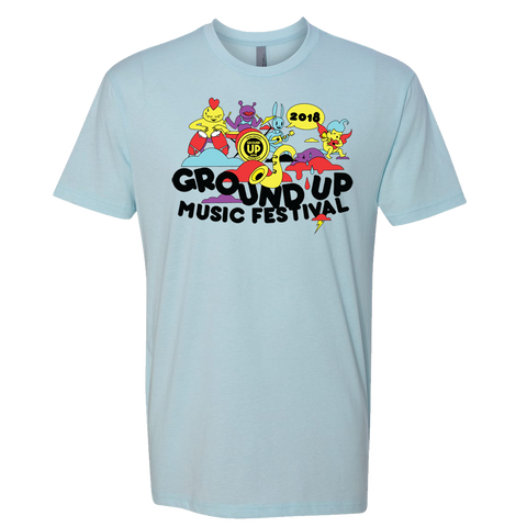 2018 GroundUP Fest Graphic T-Shirt (Blue)