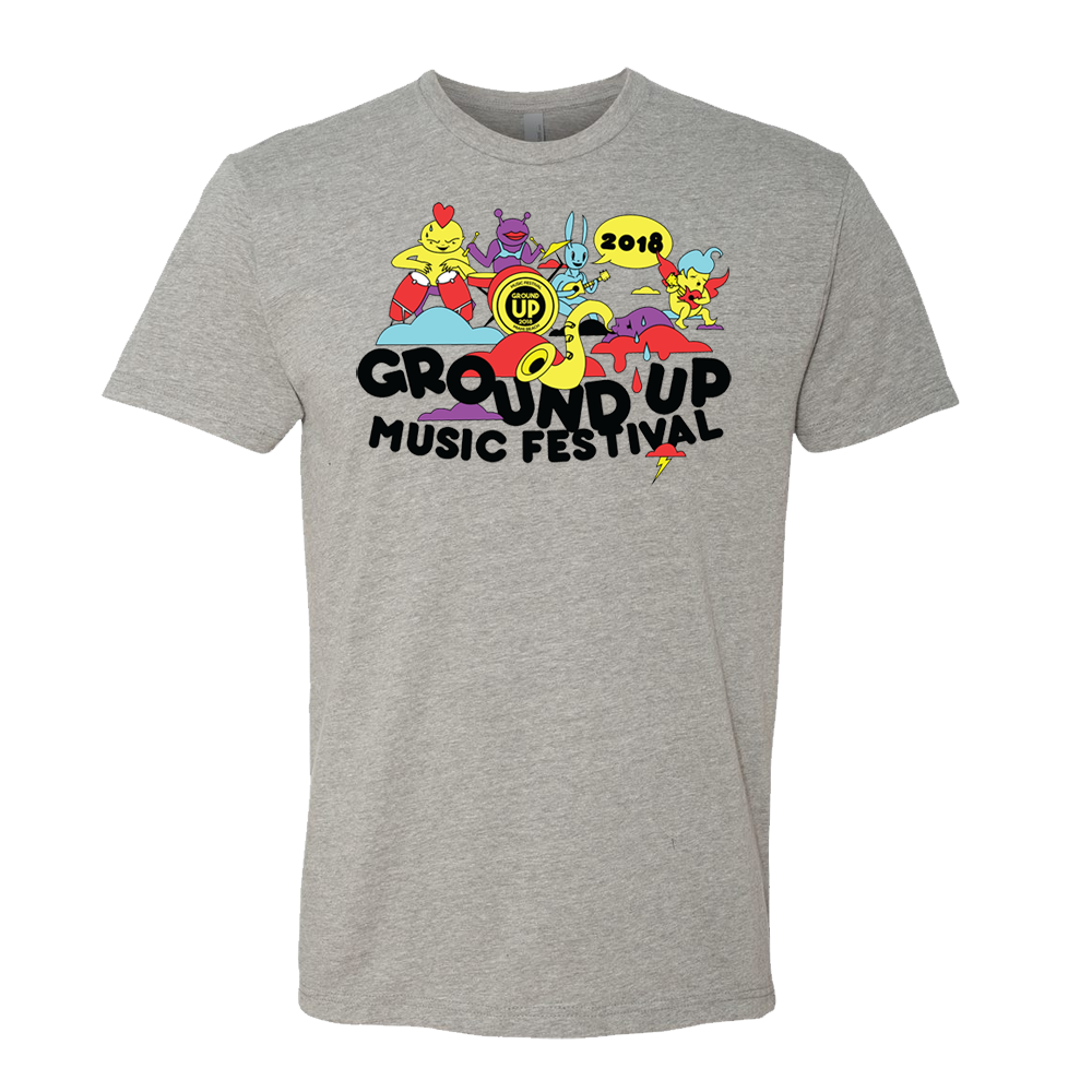 2018 GroundUP Fest Graphic T-Shirt (Gray)