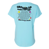 Ladies 2018 GroundUP Fest Graphic T-Shirt (Blue)