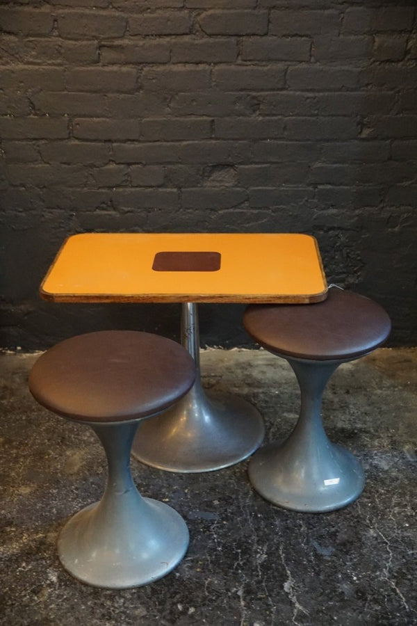 1970's Airport Table and Two Stools - Bloodline Merchants